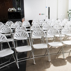 Our folding fan back chairs are complemented by a clean and fresh environment.