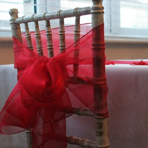 Our Chiavari chairs at its best and looking stunning with Red bows.