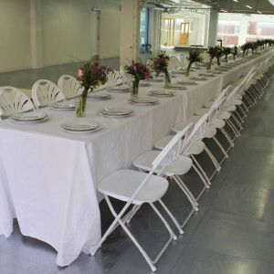 Mad Hatters Party using our trestle tables and folding chairs.