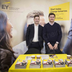 Ernst & Young exhibiting at World of Work 2016.