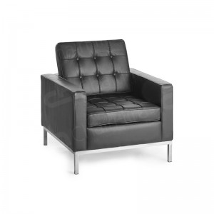 One Seater Black Montague Sofa