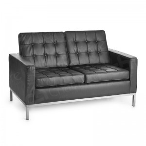 Two Seater Black Montague Sofa