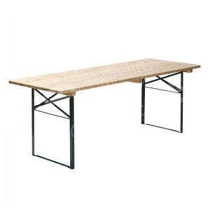 2200 x 500mm Wooden Folding Table
