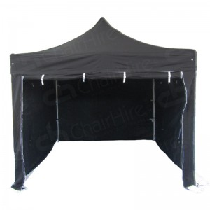 3m x 3m Black Gazebo With Sides
