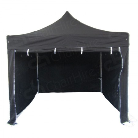 Main Image of Black Gazebo With Sides 3m x 3m