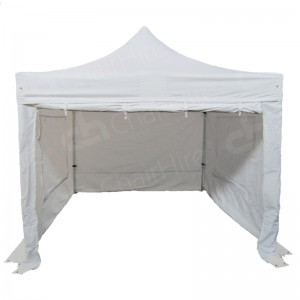3m x 3m White Gazebo With Sides