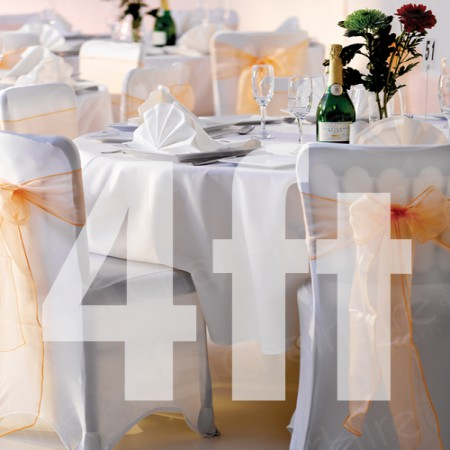 Main Image of 4ft Trestle Table and Covered Banquet Chairs