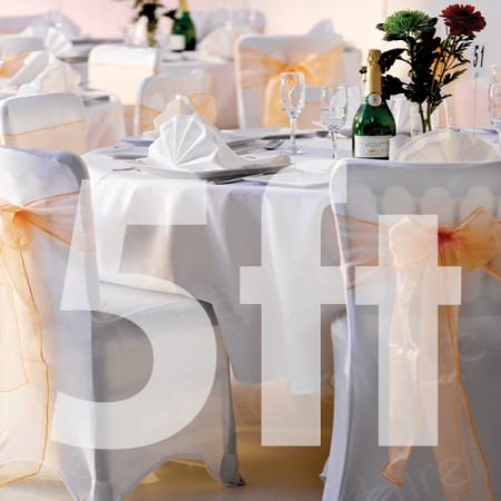 Main Image of 5ft Trestle Table and Covered Banquet Chairs