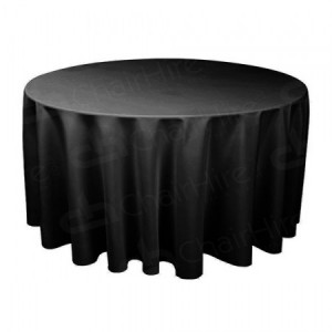 5ft 6 Round Table Cloth - Black