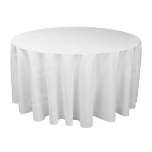 5ft 6 Round Table Cloth - White
