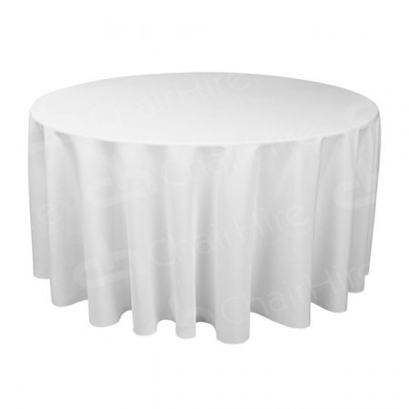Main Image of 120 Inch Round White Tablecloth