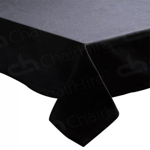 6ft Rectangular Table Cloth - Black