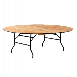 6ft Round Trestle Table