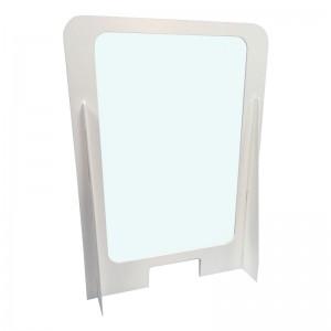 800w x 1100h Freestanding Cardboard Screen Windowed White