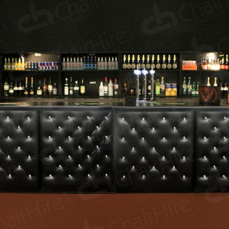 Main Image of Black Chesterfield Bar Unit 1m