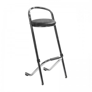 Black Chrome Bar Stool