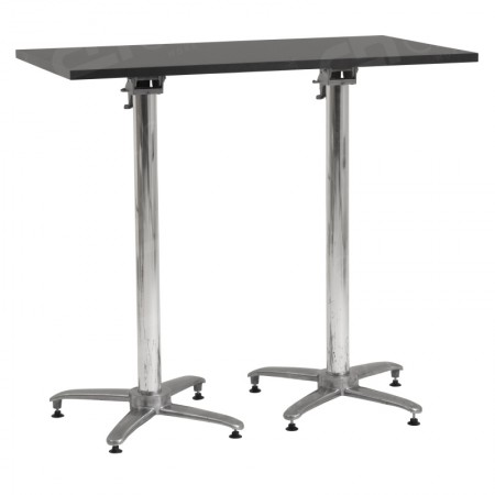 Main Image of Hire Black Rectangular Poseur Tables