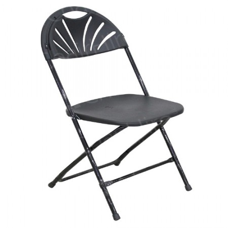 Main Image of Black Folding Fan Back Chair