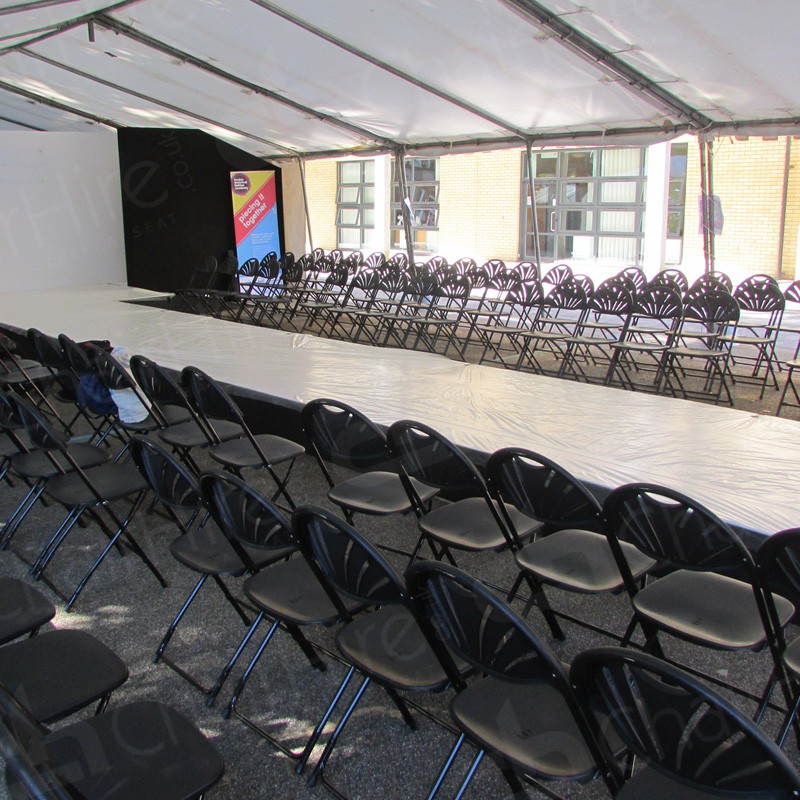 Black folding chair hire london hire event chairs in london for Furniture hire london