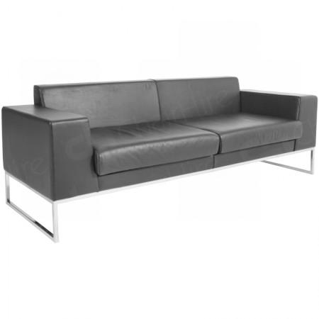 Main Image of Lay Sofa Black Leather Large