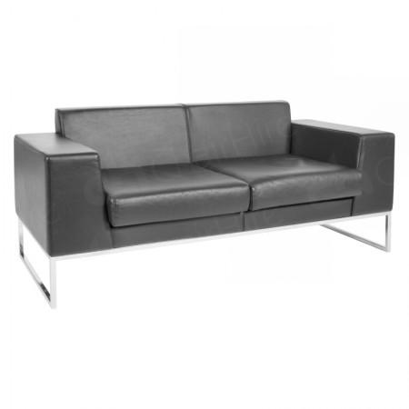 Main Image of Lay Sofa Black Leather