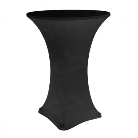 Main Image of Fitted Poseur Table Cover - Black