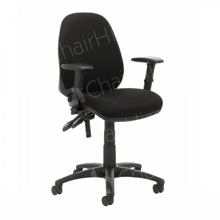 Main Image of Black Operators Chair with Arms