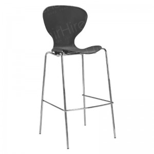 Black Plastic Stacking Stool