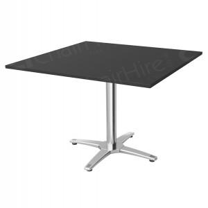 Black Square Bistro Table - 800mm