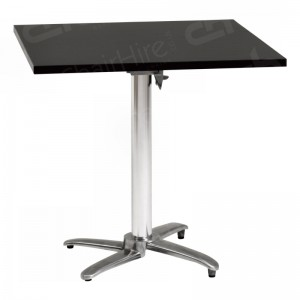 Black Square Bistro Table - 800mm