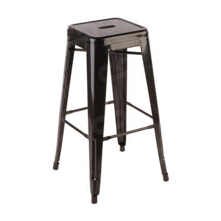Main Image of Black Tolix Style Bar Stool