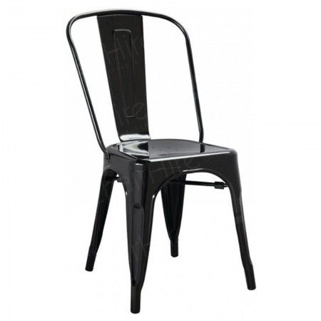 Main Image of Black Tolix Style Stacking Chair