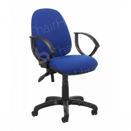 Main Image of Blue Operators Chair with Arms