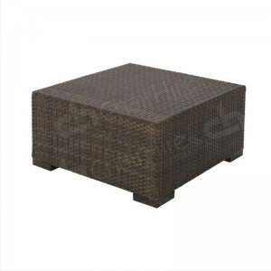 Brown Rattan Coffee Table Small