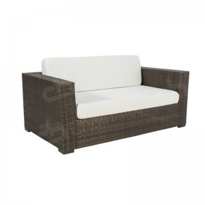 Brown Rattan Sofa