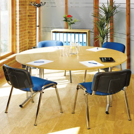 Enjoyable Circular Meeting Table And Conference Chairs Download Free Architecture Designs Viewormadebymaigaardcom