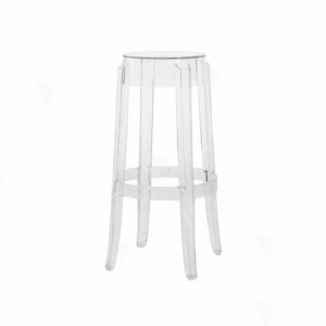 Clear Charles Ghost High Stool