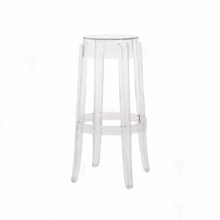 Main Image of Charles Ghost High Stool Clear