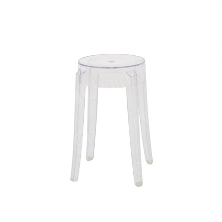 Main Image of Charles Ghost Low Stool Clear