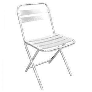Folding Chrome Chair