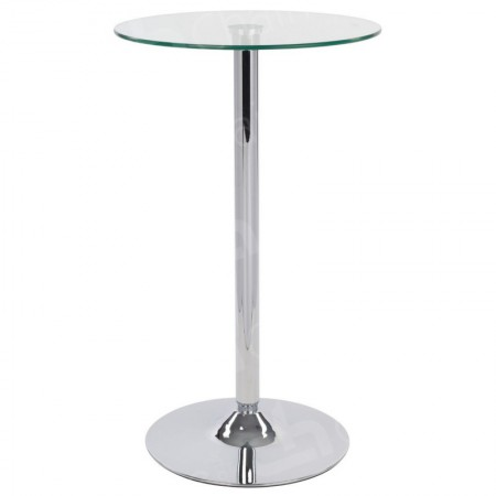 Main Image of Glass Poseur Table - Round