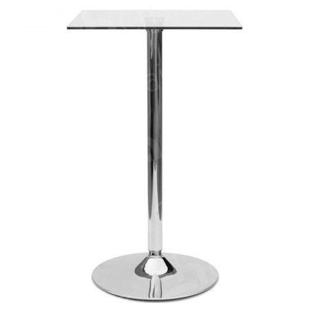 Main Image of Glass Poseur Table - Square