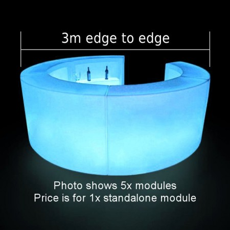 Main Image of LED Colour-Changing Curved Bar Section Hire