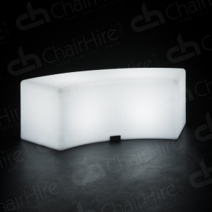 LED Colour-Changing Curved Bench