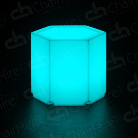Main Image of LED Colour-Changing Hexagonal Plinth Table