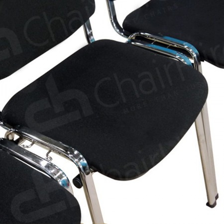 Main Image of Linking Black Stacking Chair