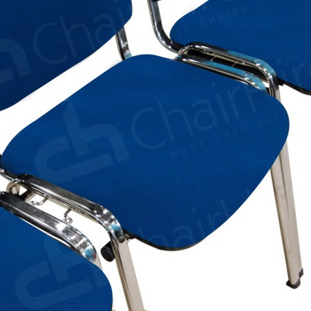 Main Image of Hire Blue Stacking Chairs With Linking Loops