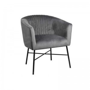 Mann Grey Velvet Accent Chair