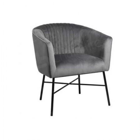 Main Image of Mann Grey Velvet Accent Chair