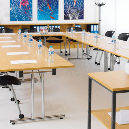 Main Image of Horseshoe Meeting Table